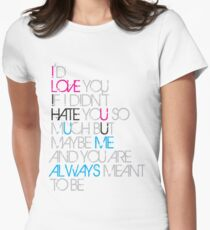 Love Hate Relationship Womens Fitted T-Shirt