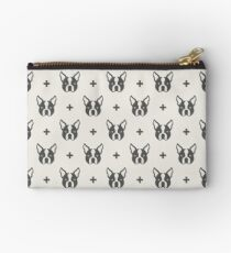 Boston Terrier Pattern Studio Pouch
