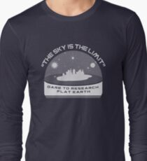 THE SKY IS THE LIMIT - Dare to Research Flat Earth T-Shirt