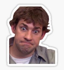 jim halpert uncomfortable Sticker