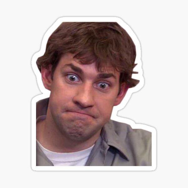 jim halpert uncomfortable Sticker