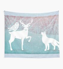 Winter In The White Woods Wall Tapestry