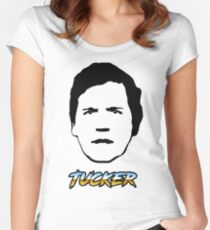Tucker Carlson #26 Women's Fitted Scoop T-Shirt
