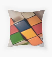 4D Cube Throw Pillow