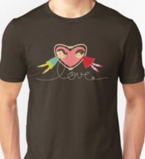 Valentine Heart Cartoon Boy Loves Girl T-Shirt