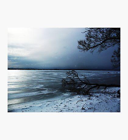 Winter Blue In Belleville Ontario Photographic Print