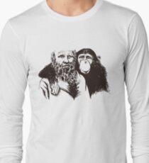 Charles Darwin Portrait T-shirt Atheist Tee Evolution Long Sleeve T-Shirt