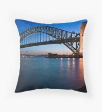 Sydney Harbour Bridge at dusk Throw Pillow