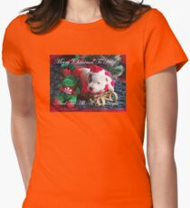 Merry Christmas To All Womens Fitted T-Shirt