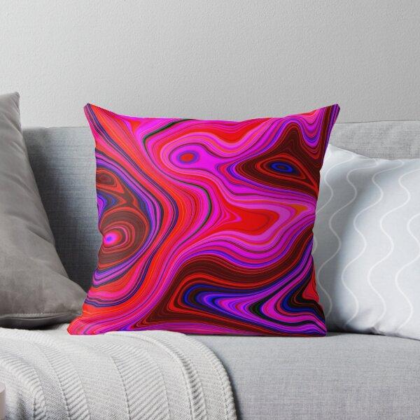 Rose Quartz Swirl Marble Abstract Art Throw Pillow