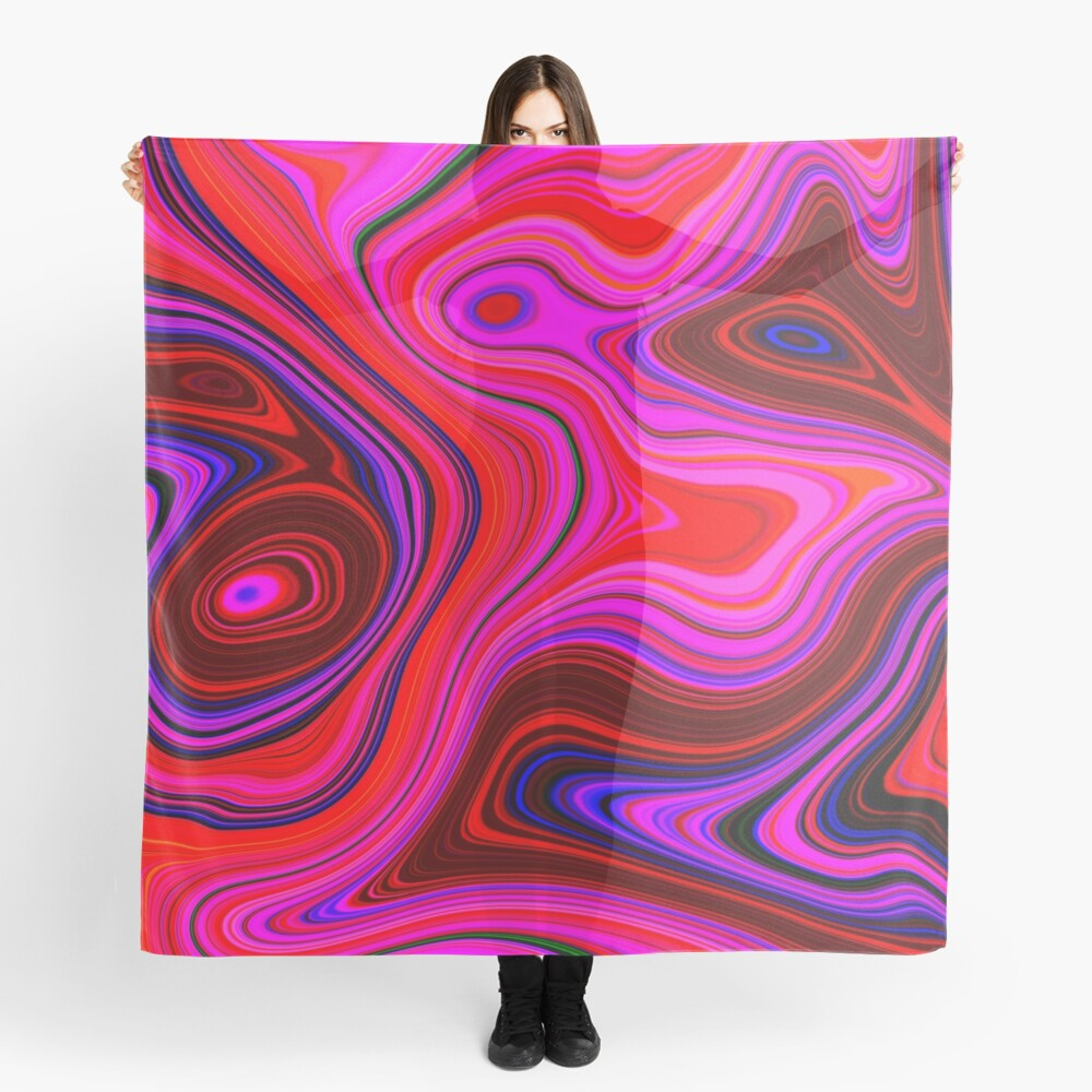 Rose Quartz Swirl Marble Abstract Art Scarf