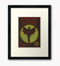 Vampire Batgirl Framed Print