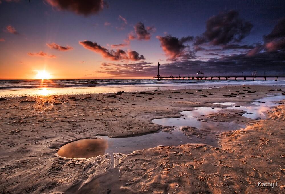 Brighton Beach Sunset by KathyT