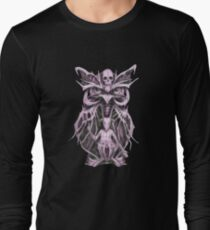Biomechanical Owl Baphomet Long Sleeve T-Shirt