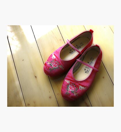 Little Pink Slippers Photographic Print