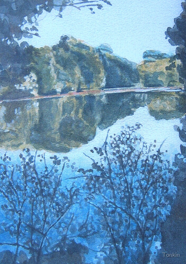 Lake near Le Conquet, Brittany by Tonkin
