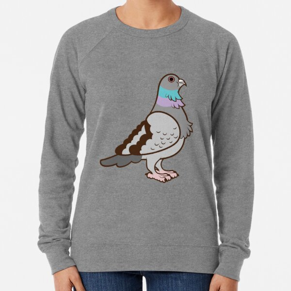 Pigeon Pattern Lightweight Sweatshirt