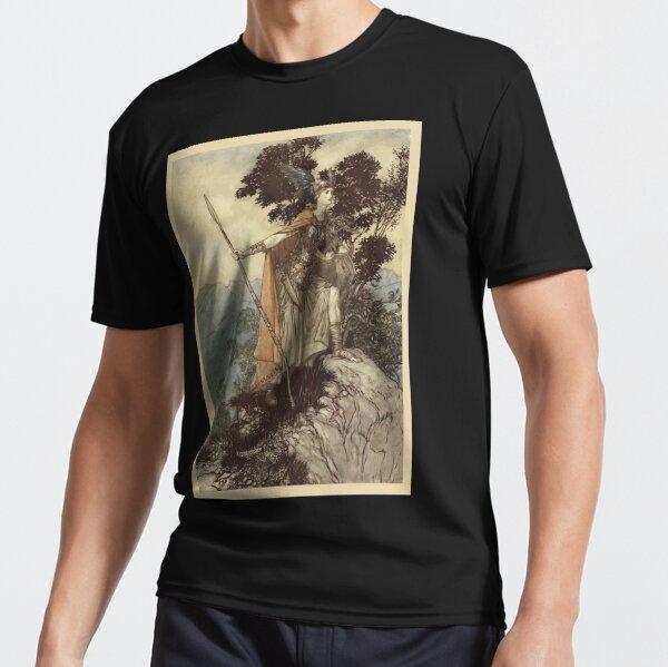 The Rhinegold & The Valkyrie by Richard Wagner art Arthur Rackham 1910 0209 Brunnhilde Funktionsshirt