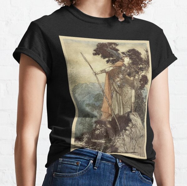 The Rhinegold & The Valkyrie by Richard Wagner art Arthur Rackham 1910 0209 Brunnhilde Classic T-Shirt