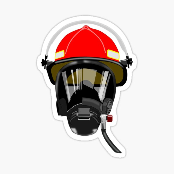 Firefighter SCBA Mask Sticker