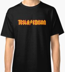 Tesla/Edison vs. AC/DC (Monsters of Grok) Classic T-Shirt