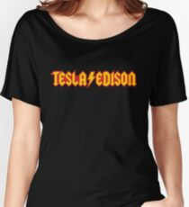 Tesla/Edison vs. AC/DC (Monsters of Grok) Women's Relaxed Fit T-Shirt