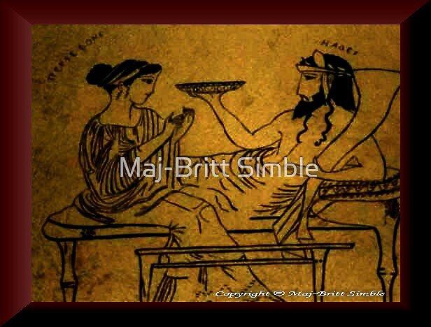 Persephone and Hades by Maj-Britt Simble