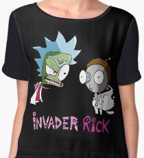 Invader Rick Women's Chiffon Top