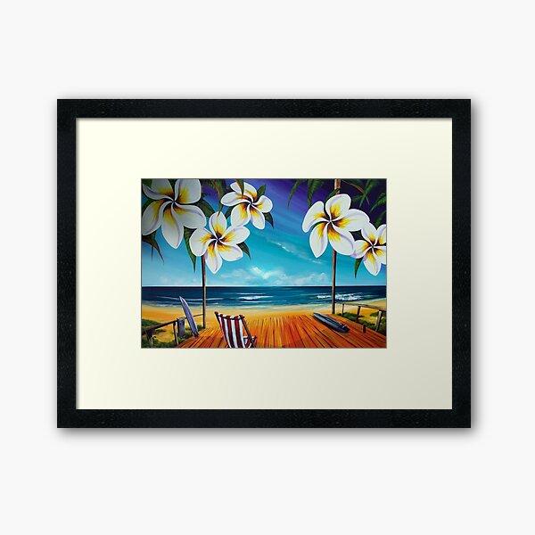 Sailing Noosa Style Framed Art Print