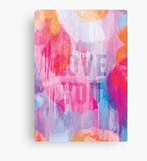 Mothers Day - Abstract Design 4 - Love You Canvas Print