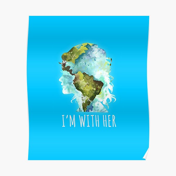 Earth Day Im with Her Kids T-Shirt Mother Earth