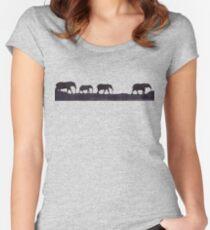 Lodge décor - Elephant safari Women's Fitted Scoop T-Shirt