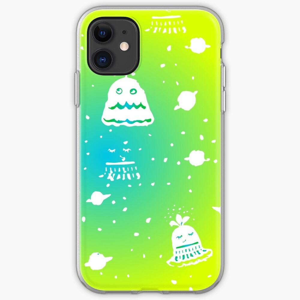 Neon Alien Spaceship Pattern iPhone Case & Cover