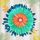Contemporary Floral - Design 01 by Belinda Lindhardt