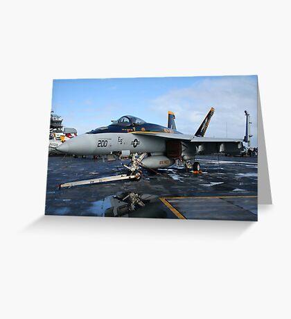F/A 18E Hornet Greeting Card