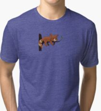 cute sleeping red panda Tri-blend T-Shirt