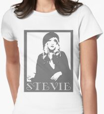 STEVIE NICKS GRAYSCALE Women's Fitted T-Shirt