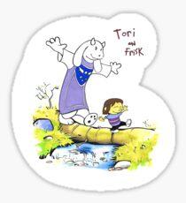 Tori & Frisk Sticker