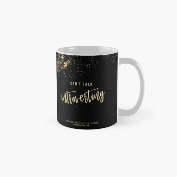 Can't Talk, Introverting (Midnight Sparkle) Classic Mug