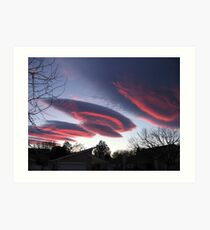UFO CLOUDS 3 Art Print