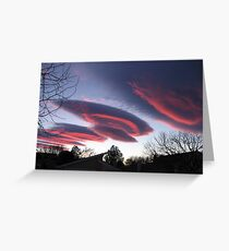 UFO CLOUDS 3 Greeting Card
