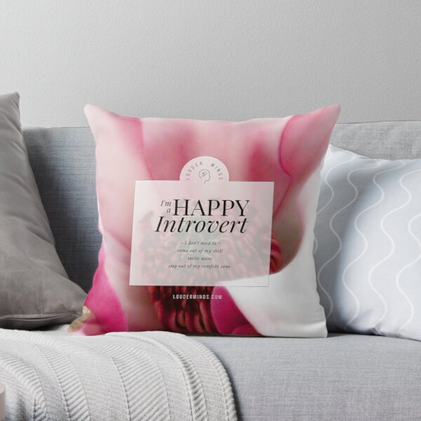 I'm a Happy Introvert Throw Pillow