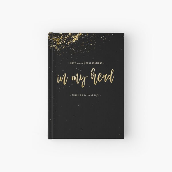 In My Head (Midnight Sparkle) Hardcover Journal