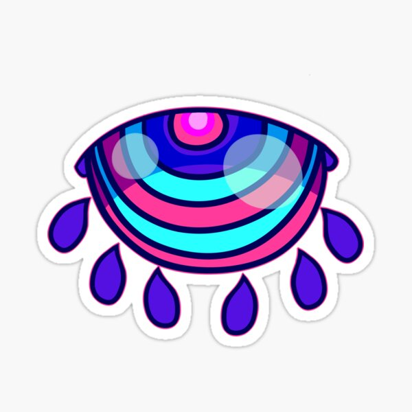 Psychedelic Eye Sticker