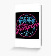 Black Mirror San Junipero NEON Greeting Card