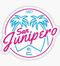 Black Mirror San Junipero NEON Sticker