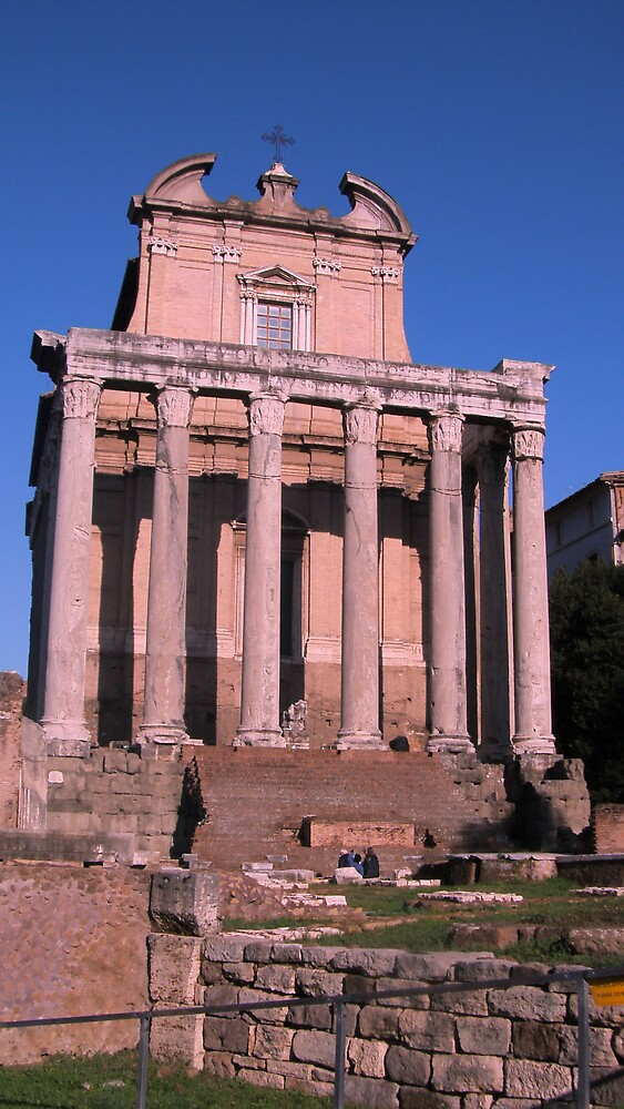 Temple of Antoninus and Faustina by Lisa Trainer