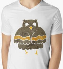 retro cartoon owl Men's V-Neck T-Shirt