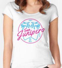 Black Mirror San Junipero PLAIN Women's Fitted Scoop T-Shirt
