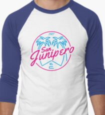 Black Mirror San Junipero PLAIN Men's Baseball ¾ T-Shirt